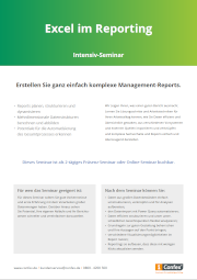 excel im reporting schulung excel im reporting kurs confex excel akademie. Black Bedroom Furniture Sets. Home Design Ideas
